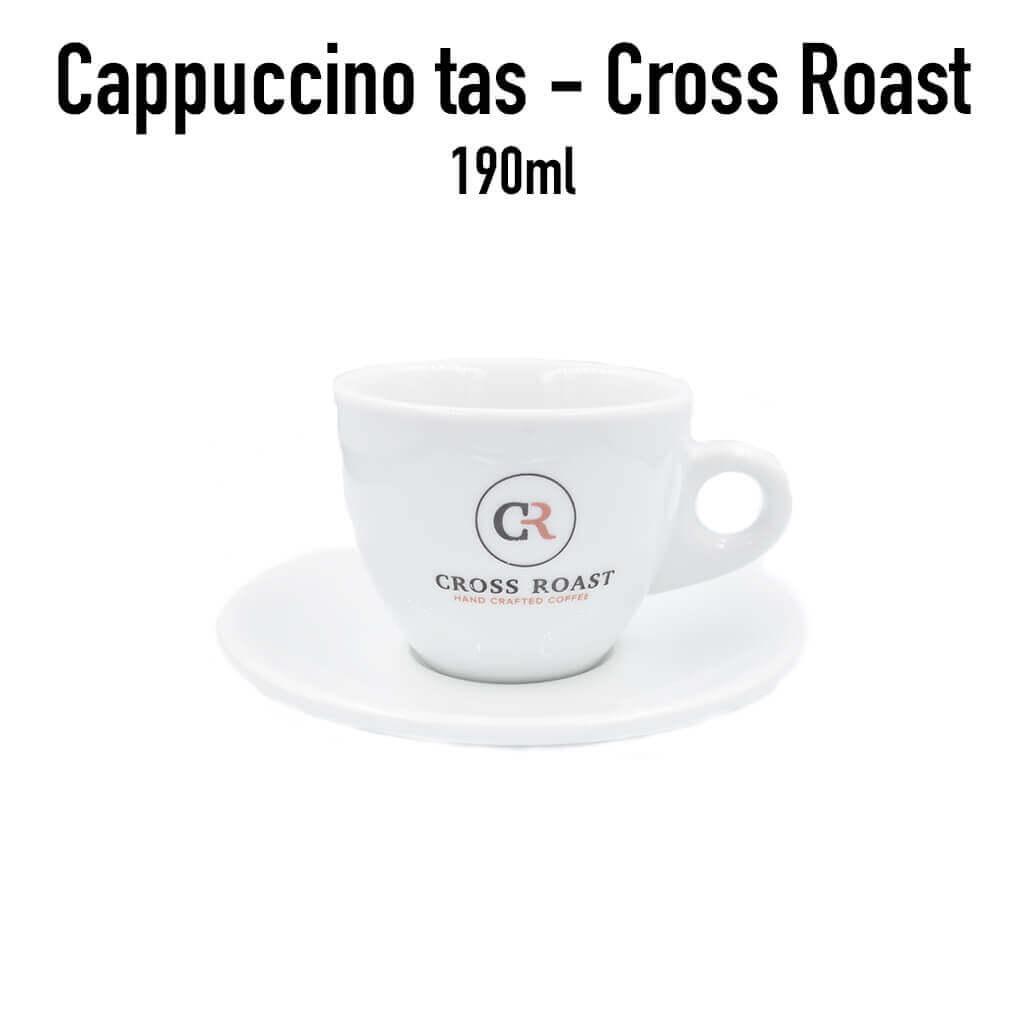 Cappuccino tas met onderbord Cross Roast - 190 ml