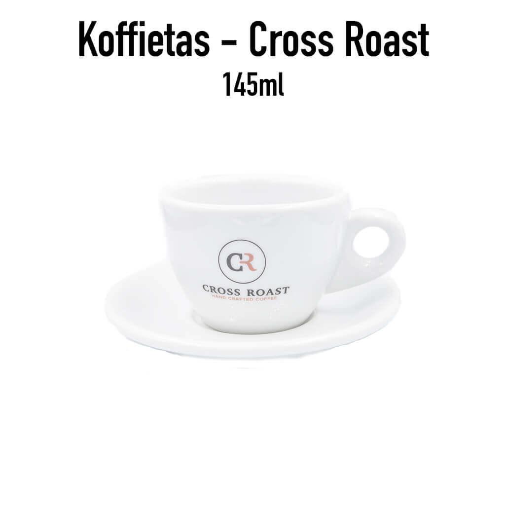 koffie tas met onderbord Cross Roast - 145 ml