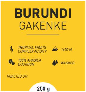Burundi Gakenke koffie