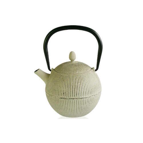Coconut Theepot met filter licht grijs