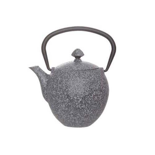 Pear Theepot met Filter donker grijs