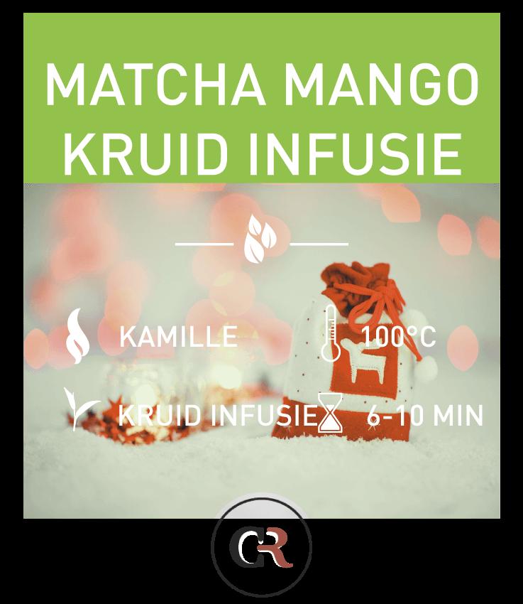 Matcha mango kruid infusie