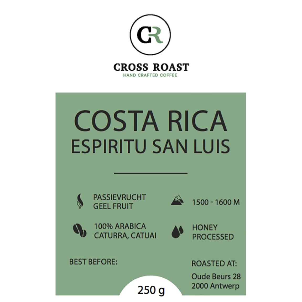 Costa Rica koffiebonen - Mandarijn   Donkere Chocolade - Cross Roast 40b3d13f824