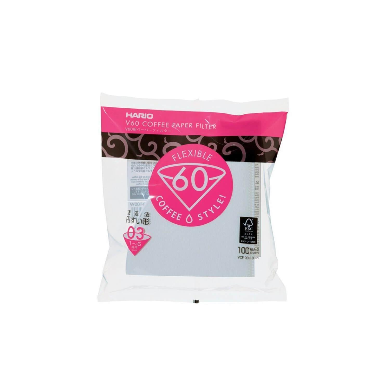 Hario - Filterpapier - V60 - 03 - 100 stuks