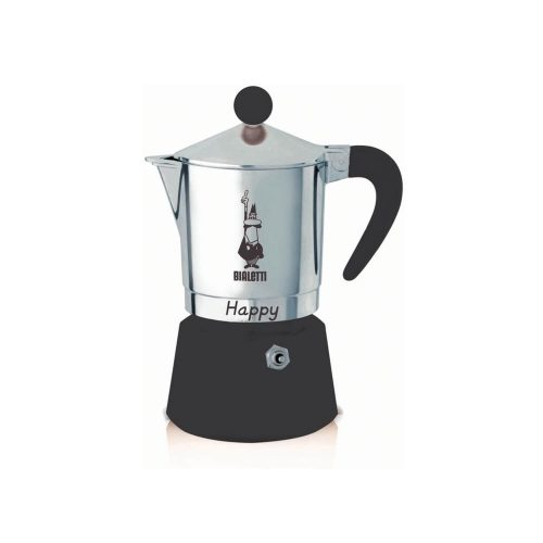 Bialetti – Happy – Black – 6 Cups
