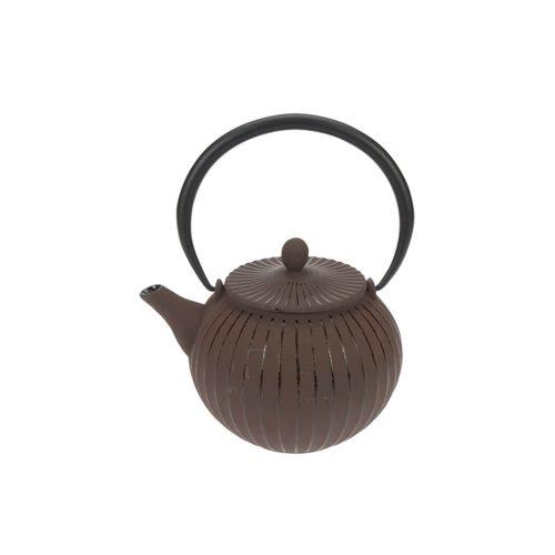Theepot - Lantarn - Koffie Bruin - Gietijzer - 1