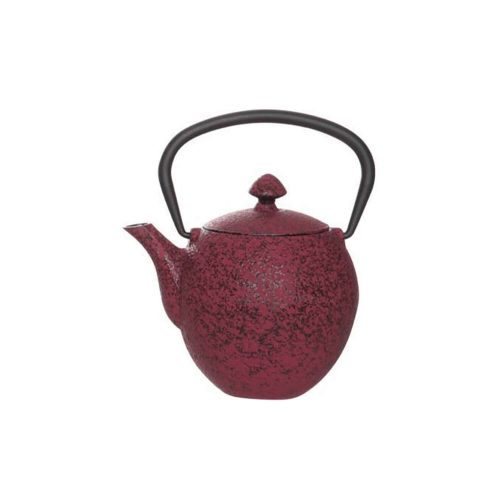 Theepot - Pear - Donker Rood - Gietijzer - 0