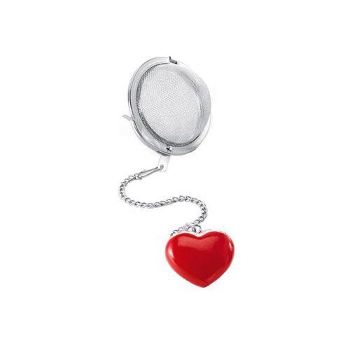 Tea Ball - Heart - Red