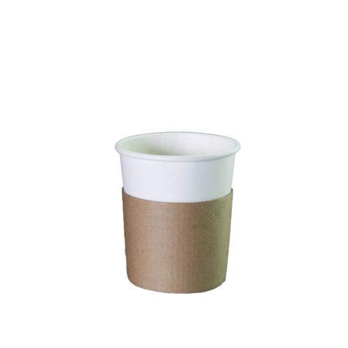 Sleeve - Kraft - Voor 240 ml koffiebeker - 50 st