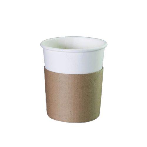 Sleeve - Kraft - Voor 300ml / 350ml koffiebeker - 50 st