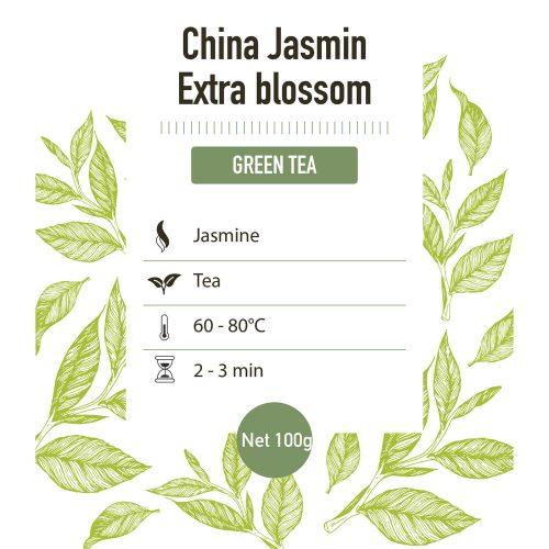 Groene Thee – China Thee Met Jasmijnbloesem - Detail