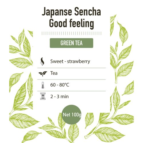 Groene thee – Sencha Good Feeling - detail