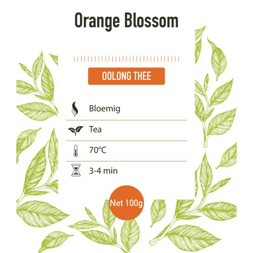Oolong – Oolong orange bloesem - detail