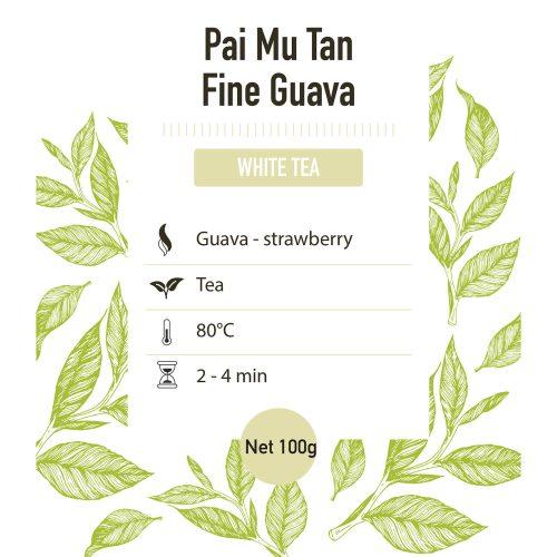 Witte thee – China Pai Mu Tan Fine guava – detail