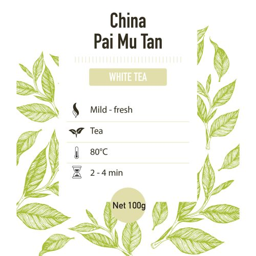 Witte thee – China Pai Mu Tan grade 1 - detail