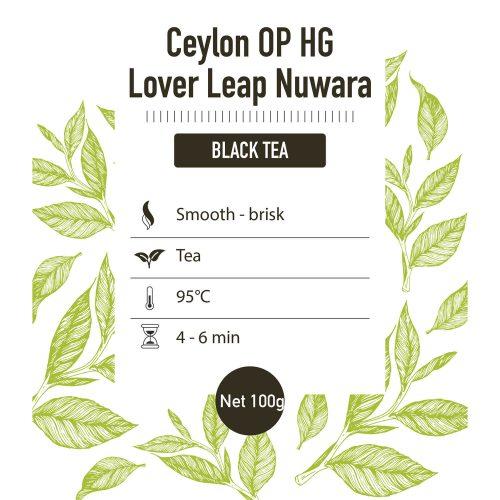 Zwarte thee – Ceylon - detail