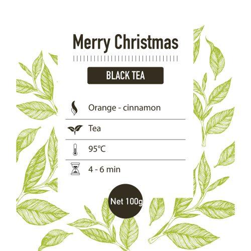 Zwarte thee – Christmas tea - detail