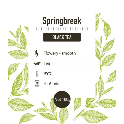 Zwarte thee – Springbreak – detail