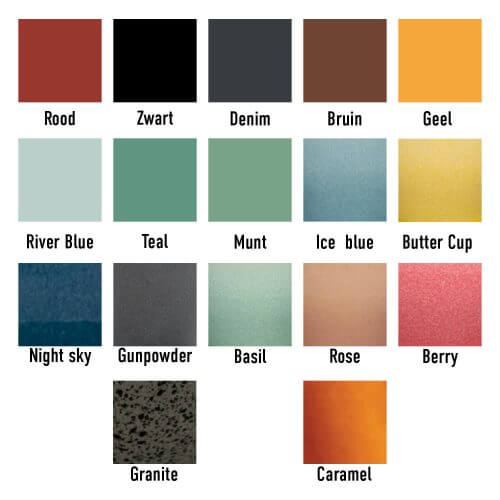 Loveramics kleuren