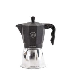 E&B - IMS - Moka pot - Induction - Black sandblasted - 6 Cups
